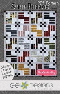 Strip Ribbons Downloadable PDF Quilt Pattern<BR>G.E. Designs