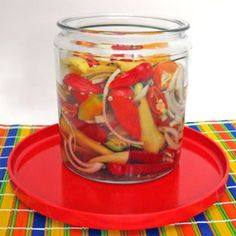 Mixed pickled peppers recipe. Maybe good for the garden's end!