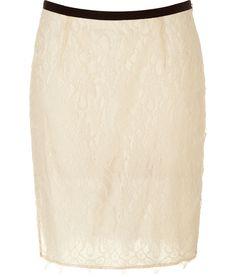 Malene Birger cream lace skirt