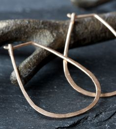 Horseshoe Gold Hoop Earrings by Alexis Russell on Scoutmob