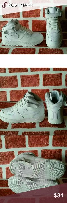New Nike Air Force One Brand new. No box.  Size 2youth White Air Force Ones, Mid Top Nike Shoes Sneakers