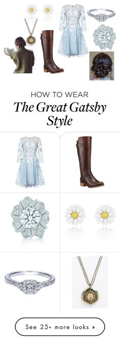 """Roni"" by gilliski on Polyvore featuring Notte by Marchesa, Timberland, Tiffany & Co., River Island and H&M Great Gatsby Fashion, 20s Fashion, The Great Gatsby, Gatsby Style, Marchesa, Timberland, River Island, Tiffany, Indie"