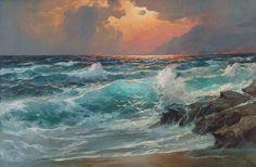 Artist Alexander Dzigurski – seascape paintings {Part 2}