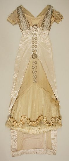 Dress (image 1) | House of Worth | French | 1913 | silk, glass, metal | Metropolitan Museum of Art | Accession Number: C.I.58.67.6