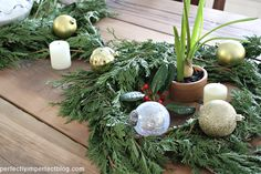 simple, natural Christmas dining table