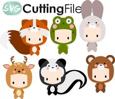 Chibi Kids as Forest Animals