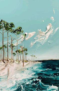 Seascape Acrylfarbe Justin Gaffrey Blue Mountain Beach Bilder painting ideas on canvas acrylics Art Inspo, Painting Inspiration, Easy Paintings, Landscape Paintings, Acrylic Paintings, Seascape Paintings, Acrylic Artwork, Indian Paintings, Beautiful Paintings