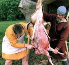 *Preparing a deer-Anglo Saxon Diet