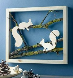 Winter scenes in the frame (kreativ.) - Claudia Mortinka - - Winter scenes in the frame (kreativ. Book Crafts, Diy And Crafts, Crafts For Kids, Paper Crafts, Craft Books, Diy Paper, Pinterest Inspiration, Winter Szenen, Deco Nature