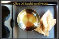 Use olive oil to condition and polish the leather on your dashboard.