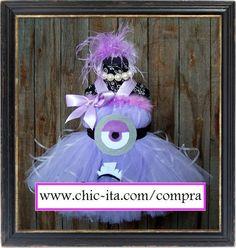 Vestido Tutu evil minion Despicable me para niña