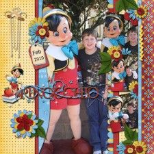 Chase and Pinocchio - MouseScrappers - Disney Scrapbooking Gallery