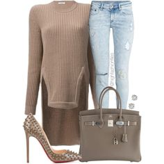 Regular Chic by highfashionfiles on Polyvore featuring Givenchy, H&M, Christian Louboutin, Hermès and Saks Fifth Avenue