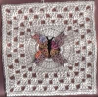 1000+ images about Crocheted - Granny Square Butterfly ...