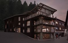 Hotel Gemmi Leukerbad, CH 2014, progetto Multi Story Building, Mansions, House Styles, Home Decor, Decoration Home, Manor Houses, Room Decor, Villas, Mansion