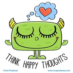Think happy thoughts! #positivevibes #motivation #dailydrawing