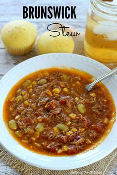 This Brunswick Stew is full of delicious smoked pork, veggies, and a savory barbecue broth. It's the perfect way to enjoy a taste of the south!