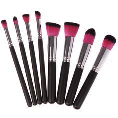 FlyQueens 8 Piece Makeup Brush Set