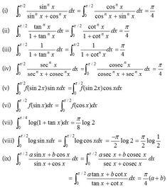 Definite Integrals - A Plus Topper Math Vocabulary, Maths Algebra, Ap Calculus, Maths Formulas List, Differentiation Formulas, Math Formula Chart, Maths Solutions, Math Notes, Math About Me