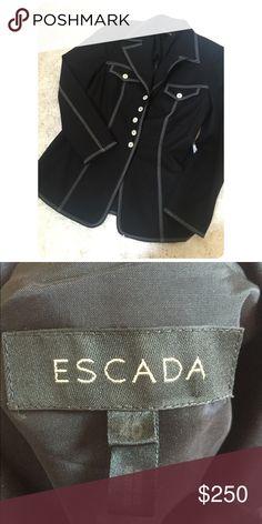 Escada Black Blazer Great Condition! Escada Jackets & Coats Blazers