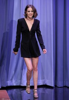 Flash: Kristen displayed a rare smile as she visited The Tonight Show Starring Jimmy Fallo...