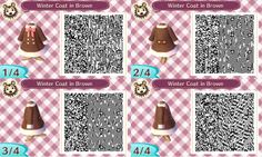 acnl qr code closet — kkswing: More color variations of the coat/dress...