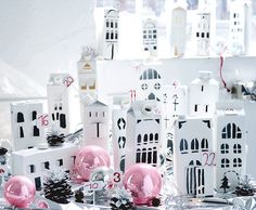You are looking for that special something? Here we show how this beautiful Christmas city can be ma Countdown Calendar, Advent Calendar, Christmas Crafts, Christmas Decorations, Holiday Decor, Take Me Home, Inspiration Boards, Beautiful Christmas, Recycling