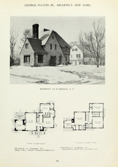 American country houses of today . Vintage House Plans, Modern House Plans, Small House Plans, House Floor Plans, Vintage Houses, English Country Decor, Sims 4 Houses, Tudor House, Two Story Homes