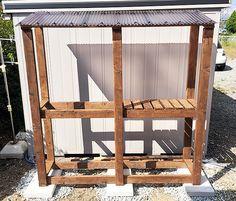 薪棚DIY Wood Storage, Cacti And Succulents, Outdoor Furniture, Outdoor Decor, Firewood, Gazebo, Outdoor Structures, Modern, Gardening