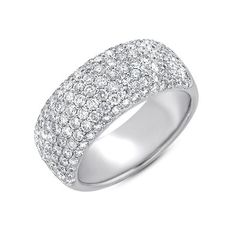 S. Kashi & Sons White Gold Diamond Pave Band Ring by S.Kashi & Sons   - #D4079WG - www.russellandballard.com