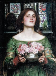 John William Waterhouse - Gather Ye Rosebuds While Ye May [1908]