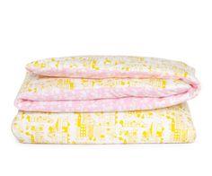 Speelkleed Tas-ka huis roze, stad geel