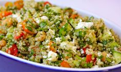 quinoa tabouli **made several alterations to make a version we like the best. yum!