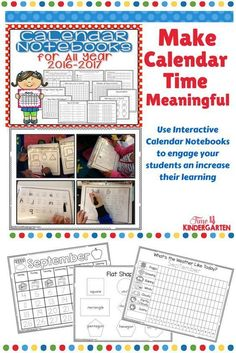 Calendar Math Notebooks: Use this Interactive Calendar Notebook to expand your morning calendar routine and make it interactive for all students. I created this Calendar Notebook throughout the school year as I introduced specific skills to my students.