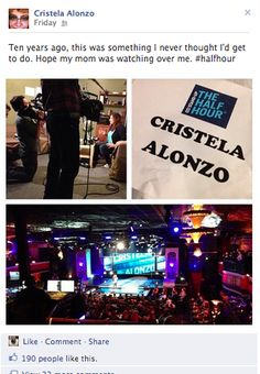 Comedy 360 Daily wants to congratulate Cristela Alonzo in her Half-Hour Comedy Central Special!  Check her website out for more information-http://cristelaalonzo.com