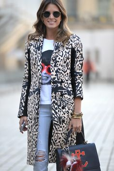 Helena Bordon on the streets in Paris #PFW