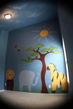 This tree would be perfect for the preschool room! I could paint this in one of the rooms at the day care I work at! ~ Nicole