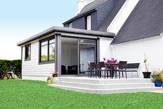 Extension isoline toit plat