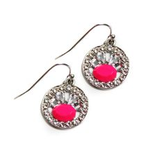 Lydell NYC  neon and crystal earrings $38.00