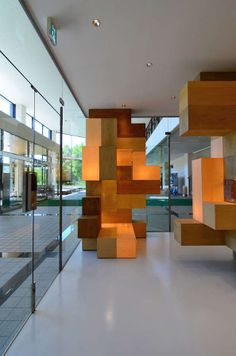 Cubic Labyrinth Interiors - The JAIST Gallery Design is Inspired by Cryptic Puzzles (GALLERY)