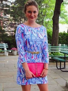 This Lilly Pulitzer sailboat printed dress is looking FAB on @anca415. Via Instagram.