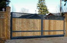 Wood and Iron Sliding Gate Wrought Iron Wood Fence