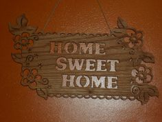 Home Sweet Home wall hanging by KentsKrafts on Etsy