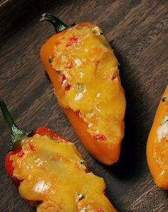 This delicious spin on jalapeño poppers combines rich, sharp Southern pimento cheese with sweet, crunchy bell peppers for bite-sized treats that melt in your mouth. Mini Sweet Peppers, Stuffed Sweet Peppers, Cheese Recipes, Appetizer Recipes, Appetizers, Pimento Cheese, Cheddar Cheese, Pepper Poppers, Poppers Recipe