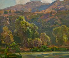 WILLIAM WENDT (American, 1865-1946) Mid-Summer Oil on canvas 25 x 30 inches (63.5 x 76.2 cm) Signed lower left: William Wendt