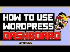 How to Use WordPress Dashboard -  Basic WordPress Training - https://www.howtowordpresstrainingvideos.com/wordpress-training-videos/how-to-use-wordpress-dashboard-basic-wordpress-training/