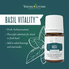 No kitchen should be without Basil Vitality essential oil!