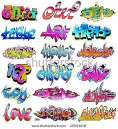 Hip hop urban graffiti
