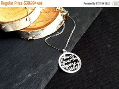 FALL SALE Sterling Silver LOVE Amore Necklace | Amore Necklace | Amore Jewelry | Love Jewelry | Wedding Necklace | Sterling Silver Delicate