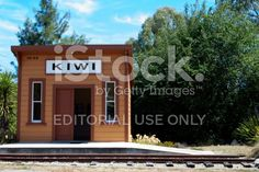 Kiwi Railway Station, Tapawara, New Zealand royalty-free stock photo